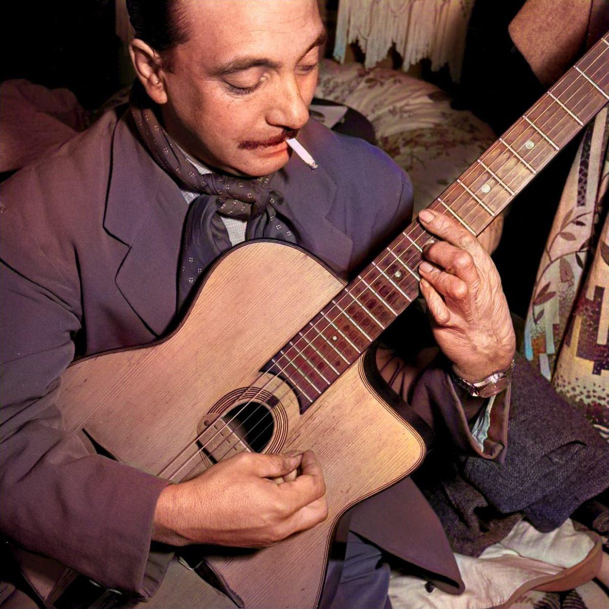 Django Reinhardt en couleur